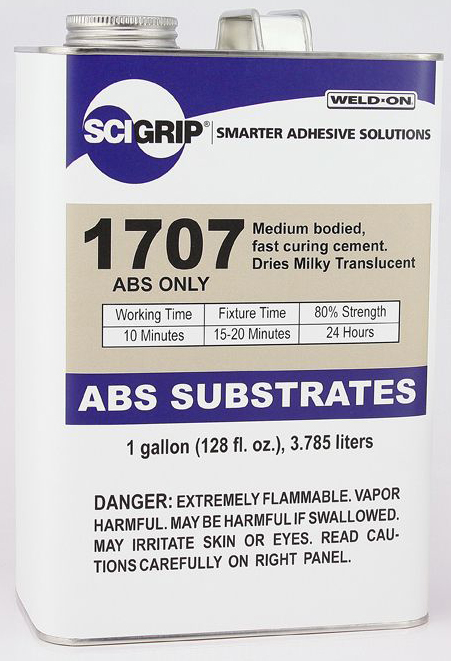 1 GALLON WELD-ON #1707 (PVC) - ABS Cements