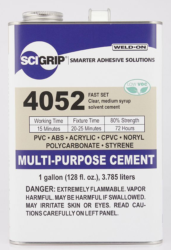 1 GALLON WELD-ON #4052 (PVC, ABS, STY) - Multi-Purpose Cements