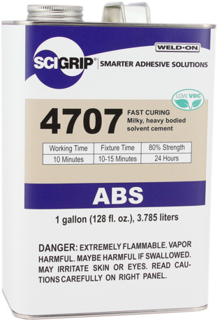 1 GALLON WELD-ON #4707 (MILK ABS) - ABS Cements
