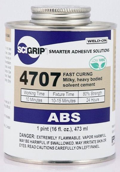 1 PINT WELD-ON #4707 (MILK ABS) - ABS Cements