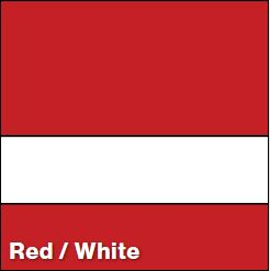 Red/White LACQUER 1/16IN - Rowmark Lacquer