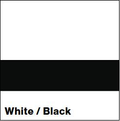 White/Black LACQUER 1/16IN - Rowmark Lacquer
