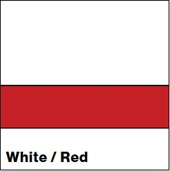 White/Red LACQUER 1/16IN - Rowmark Lacquer