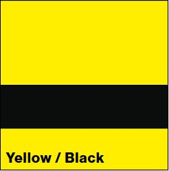 Yellow/Black LACQUER 1/16IN - Rowmark Lacquer