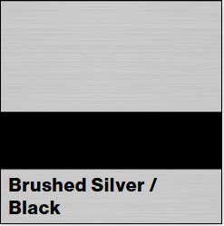Brushed Silver/Black LaserLights  1/32IN x 12IN x 24IN (10-Pack) - Rowmark LaserLights