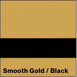 Smooth Gold/Black LaserLights  1/32IN x 12IN x 24IN (10-Pack) - Rowmark LaserLights