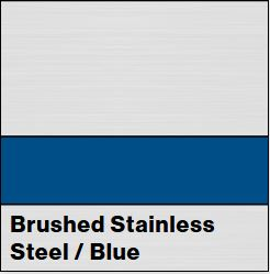 Brushed Stainless Steel/Blue Metalgraph Plus 1/16IN - Rowmark Metalgraph Plus