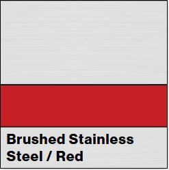 Brushed Stainless Steel/Red Metalgraph Plus 1/16IN - Rowmark Metalgraph Plus