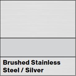 Brushed Stainless Steel/Silver Metalgraph Plus 1/8IN - Rowmark Metalgraph Plus