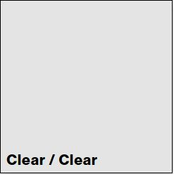 Clear/Clear SLICKER 1/16IN - Rowmark Slickers