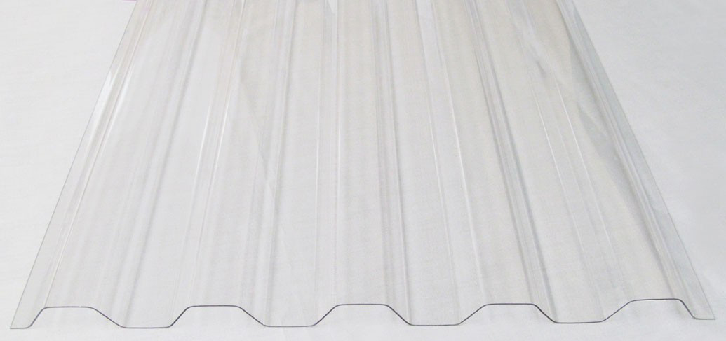 CLEAR GRECA 49.6IN x 24FT (288IN) - Corrugated Polycarbonate Sheets