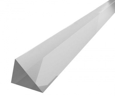 1/4IN CLEAR ACRYLIC TRIANGLE ROD#96-5600 - Right Angle Triangle Acrylic Rod