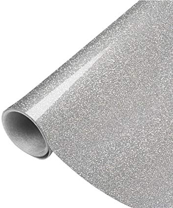 EmbroideryGlitter Silver - Specialty Materials Embroidery Glitter Heat Transfer Film